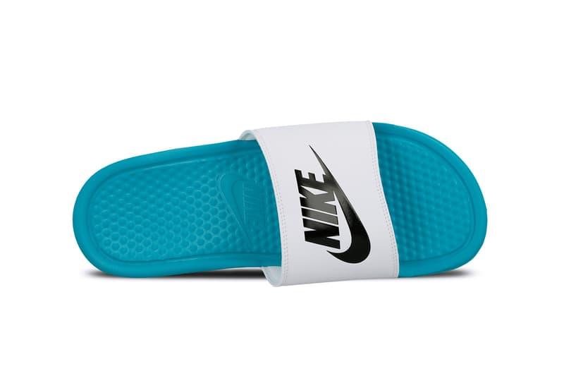 Nike Benassi Slides Hyper Jade Black White