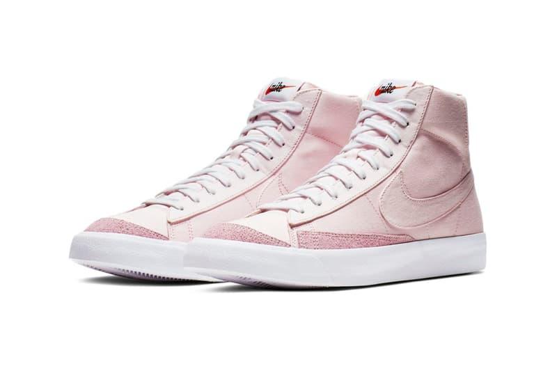 Nike Blazer Mid 77 Vintage Pastel Pink Foam Sneakers Trainers