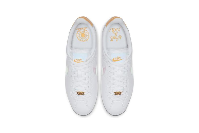 Nike Cortez White Clear Topaz Gold