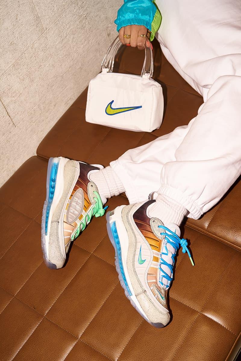 Nike Gaby Seranno Gabrielle Air Max 98 La Mezcla Editorial Frankie Collective Vintage Rework Windbreaker Swoosh Sara Gourlay Bag