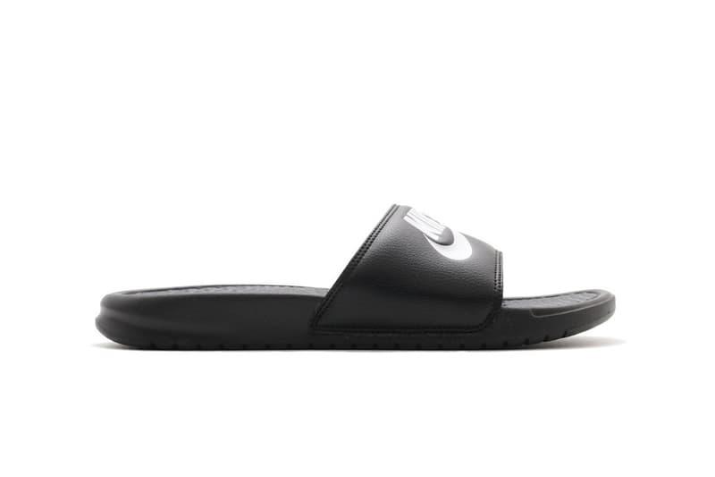 Nike Benassi Logo Slides Sandals Swoosh Print Texture Spring Summer Shoe Sporty Fashion Athleisure