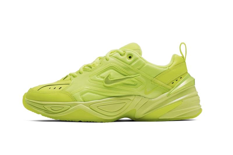 "Nike M2K Tekno Neon Green/Yellow ""Volt"" Chunky Sneaker Shoe Trainer Release Bright Trend"