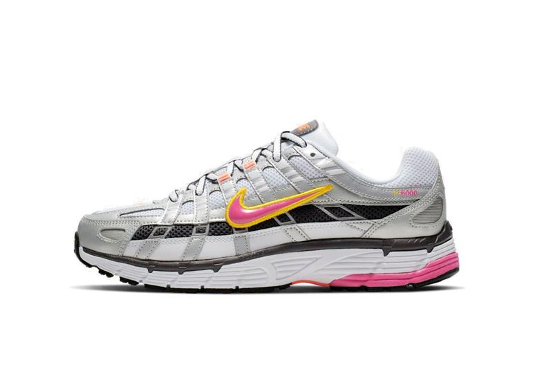 Nike P-6000 Fuchsia Pink and Navy Blue White Grey Dad Shoe Sneaker Trainer Chunky Retro Shoe