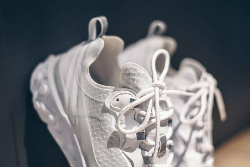Nike React Element 55 White Pure Platinum