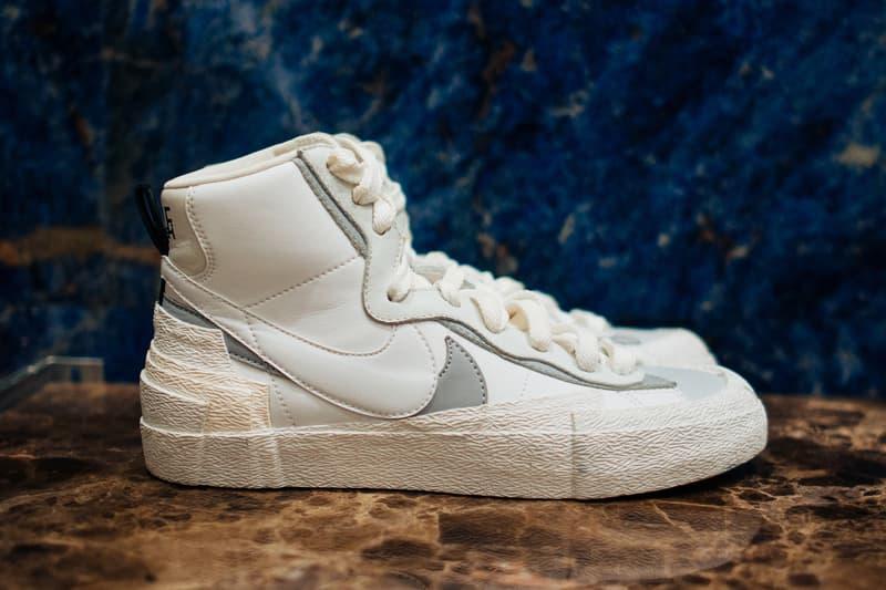 low priced 9c13c a407b sacai x Nike LDV Waffle Daybreak Blazer Release White Grey Release Date  Sneaker Shoe Drop Design