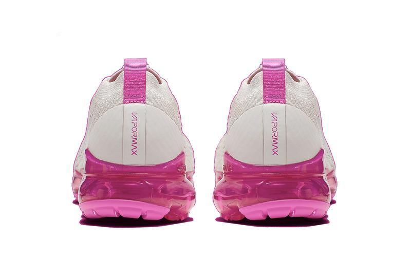 """Nike Air VaporMax in """"Laser Fuchsia"""" Release Date White Pink Sneaker Shoe Trainer Sole"""