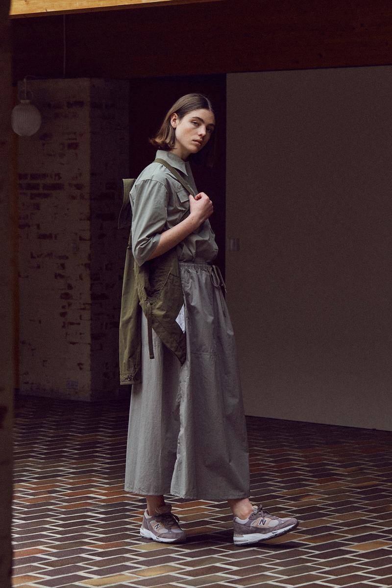 Norse Store Spring Summer 2019 Editorial Jacket Green Top Bottoms Grey