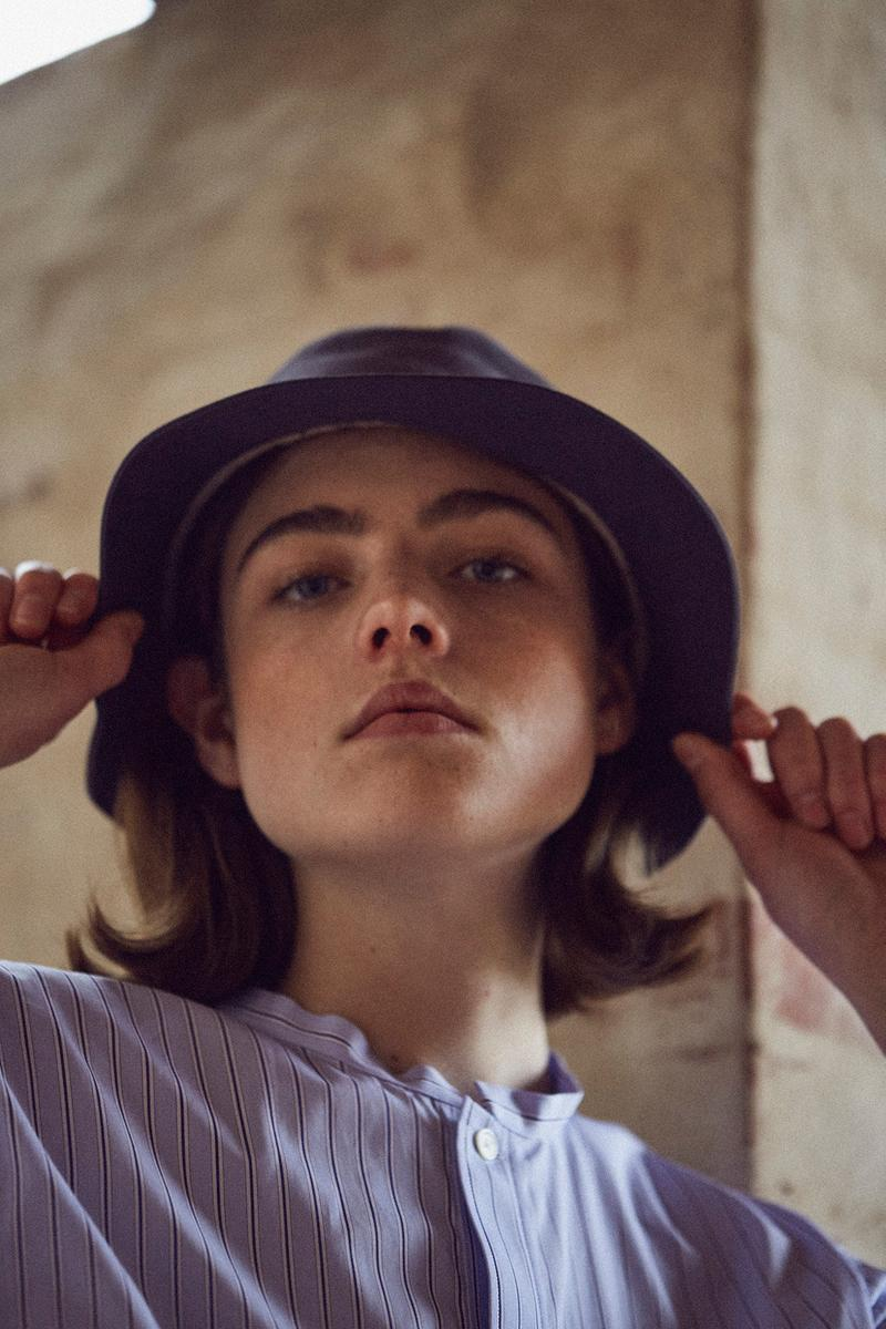 Norse Store Spring Summer 2019 Editorial Top Blue White Hat Grey