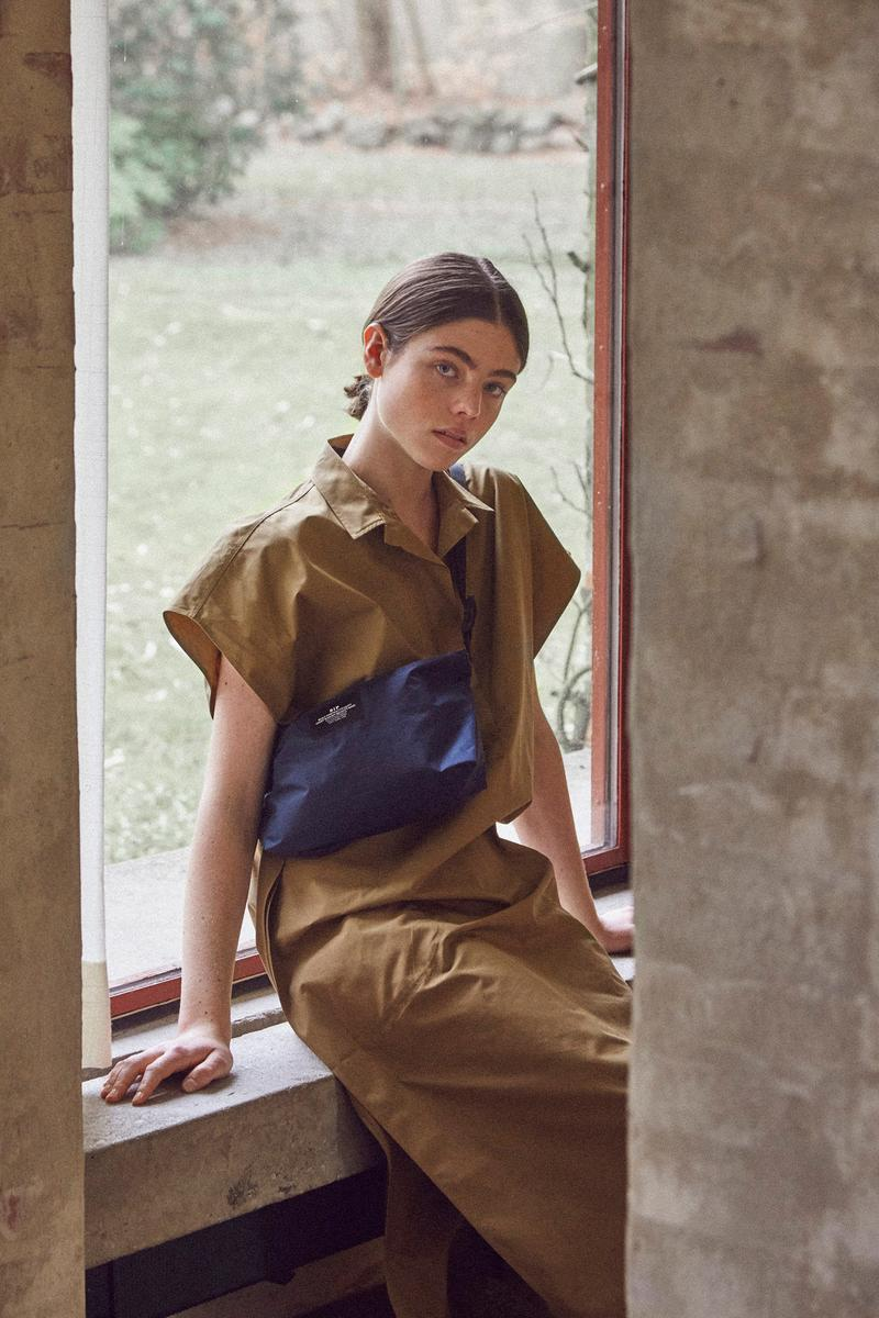 Norse Store Spring Summer 2019 Editorial Dress Brown Bag Blue