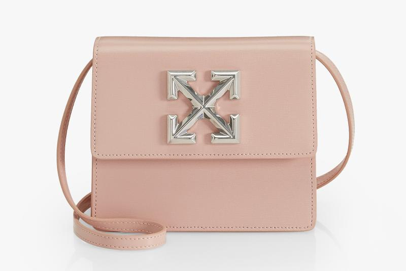 Off-White Jitney Pastel Pink Leather Bag Virgil Abloh Saks Fifth Avenue Fine Arts Collection