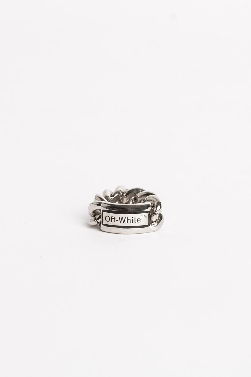 Off White Jewelry Collection Chain Ring Silver