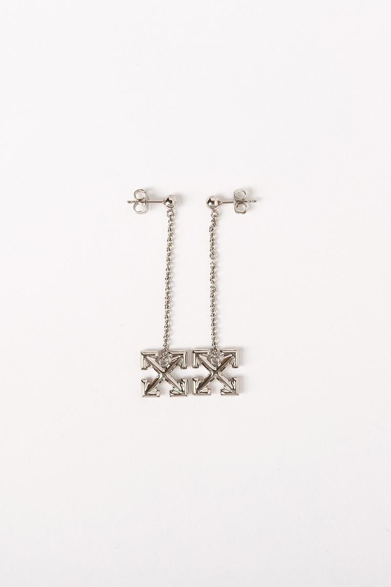 Off White Jewelry Collection Arrows Earrings Silver