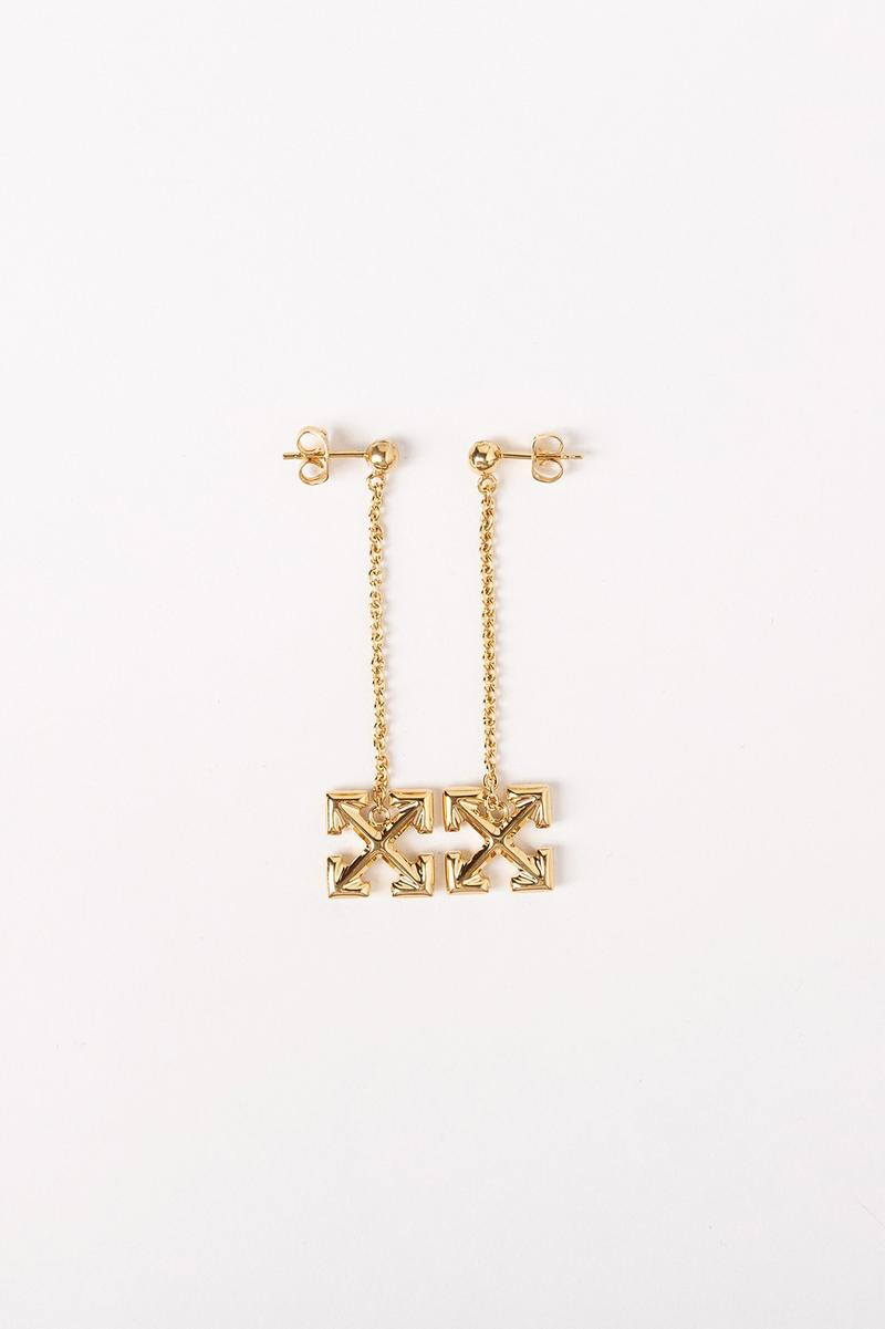 Off White Jewelry Collection Arrows Earrings Gold