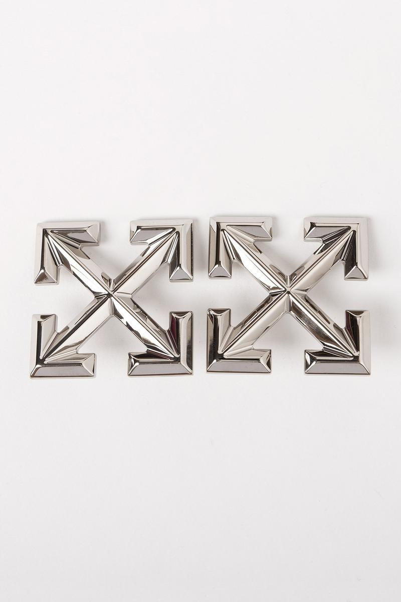 Off White Jewelry Collection Arrows Pin Silver