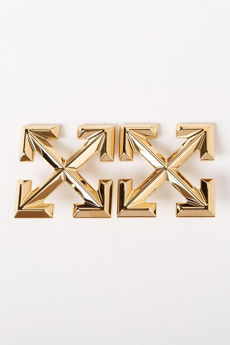 Off White Jewelry Collection Arrows Pin Gold