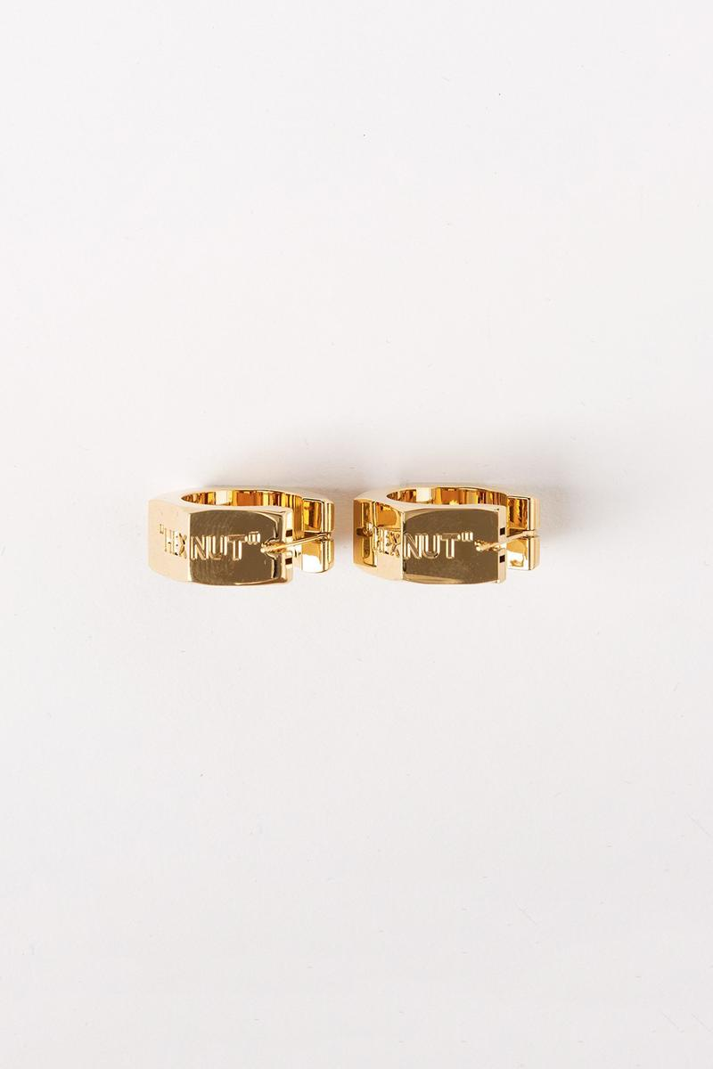 Off White Jewelry Collection Earrings Gold