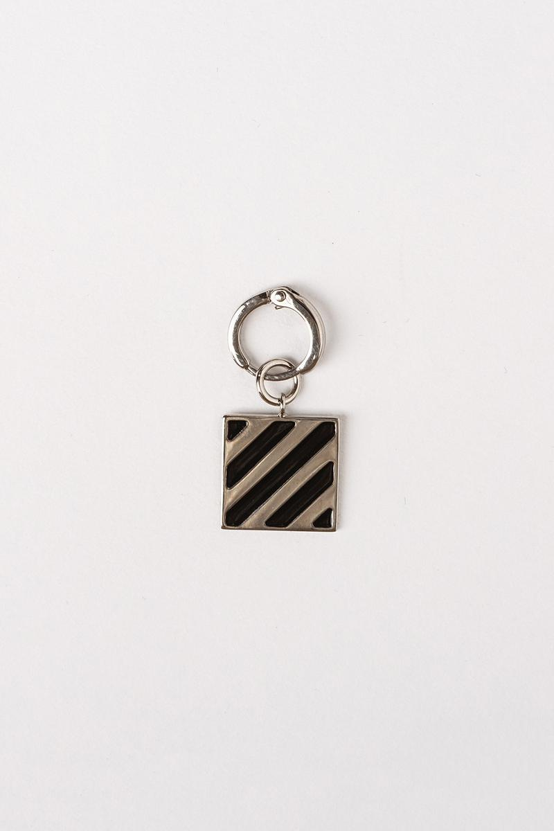 Off White Jewelry Collection Keychain Silver Black