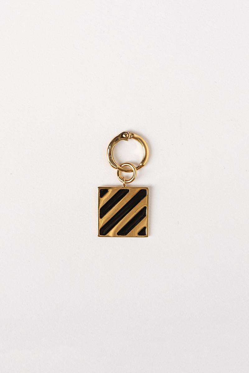 Off White Jewelry Collection Keychain Gold Black