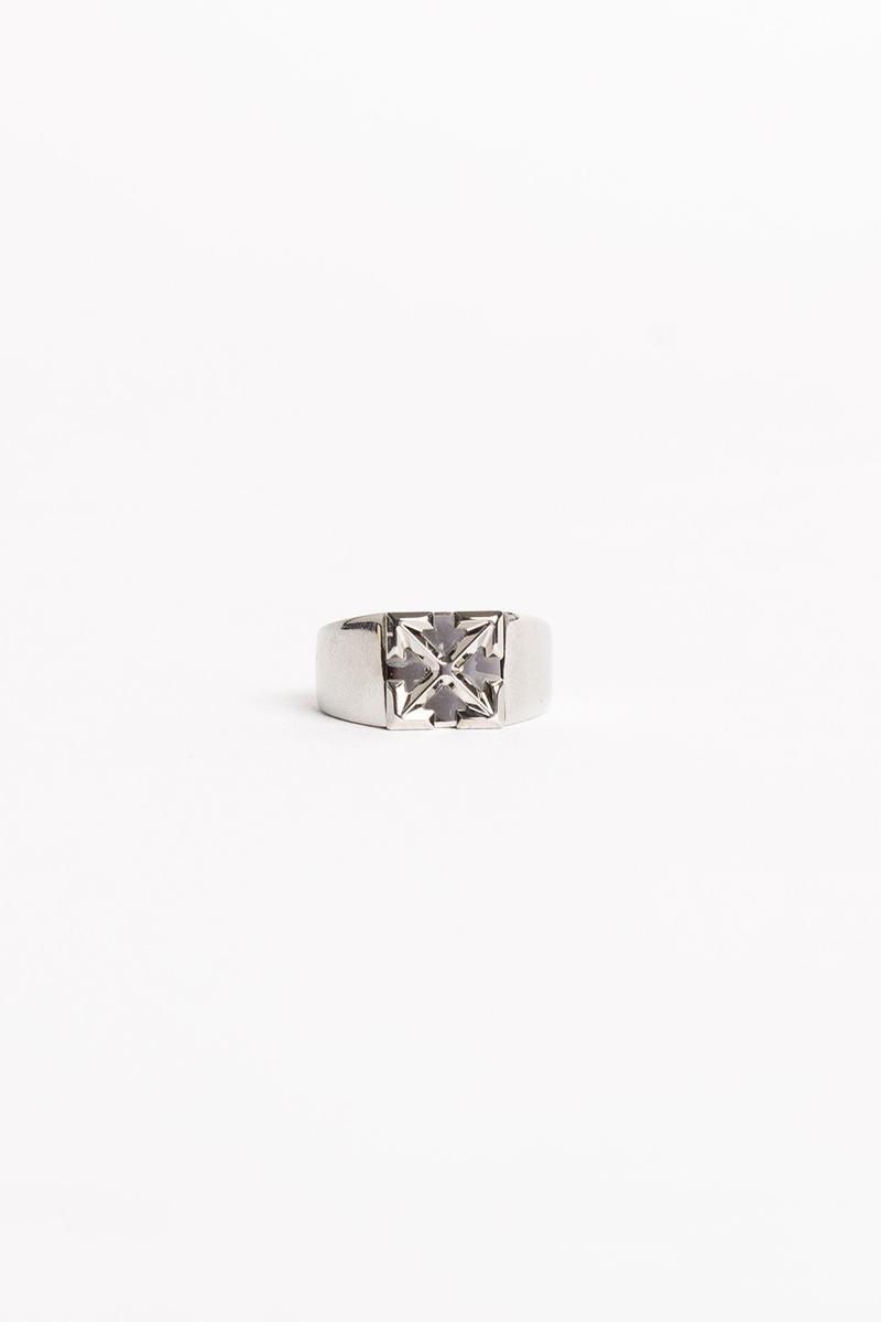 Off White Jewelry Collection Arrows Ring Silver