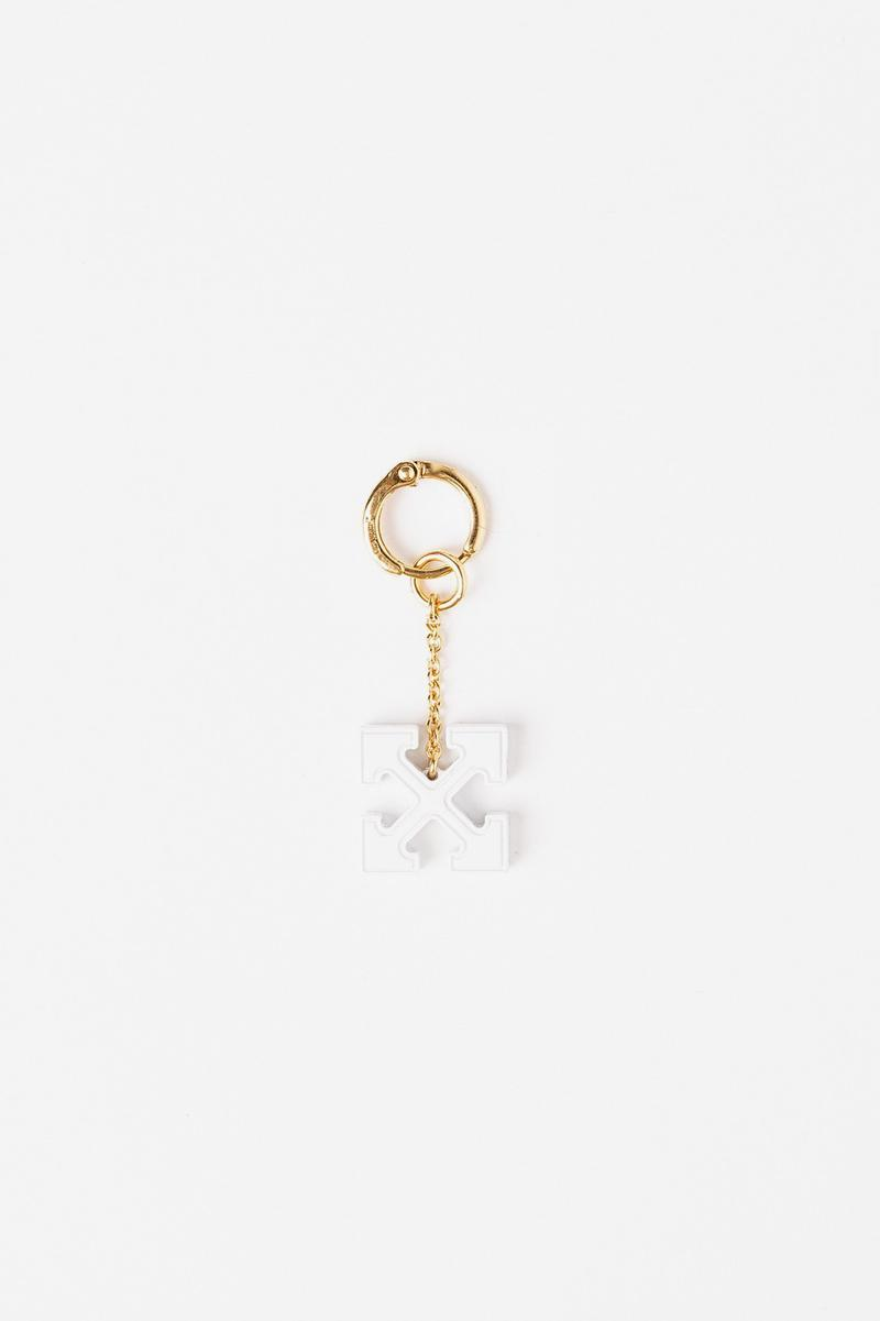 Off White Jewelry Collection Arrows Keychain Gold White