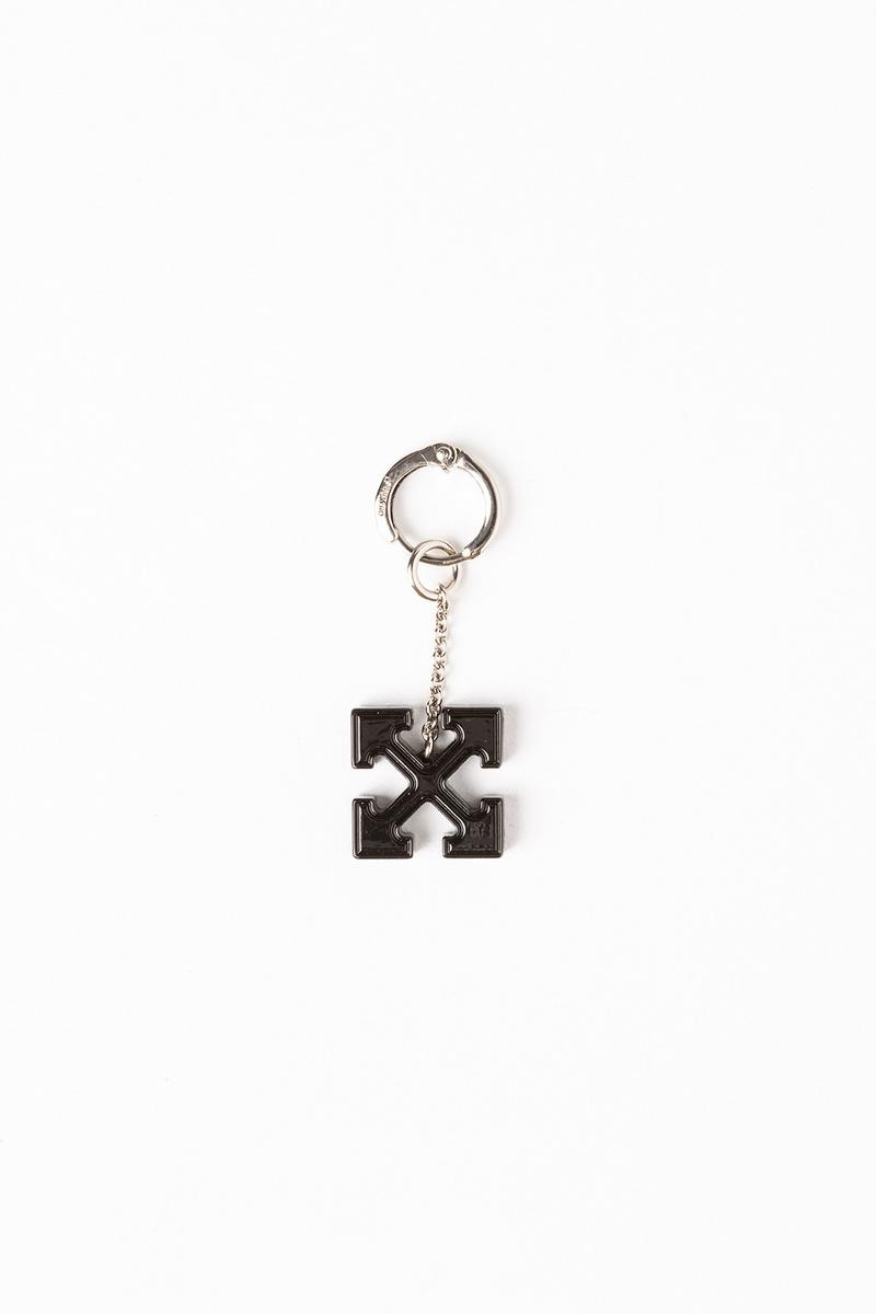 Off White Jewelry Collection Arrows Keychain Silver Black
