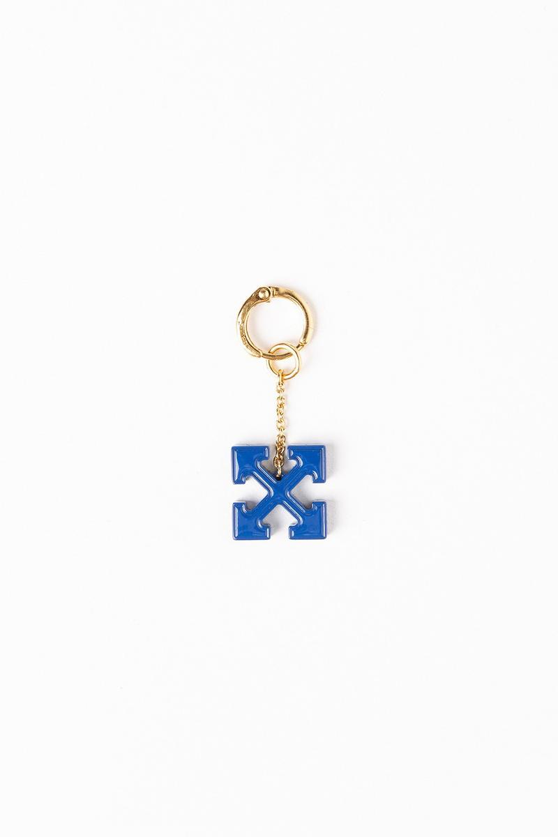 Off White Jewelry Collection Arrows Keychain Gold Blue