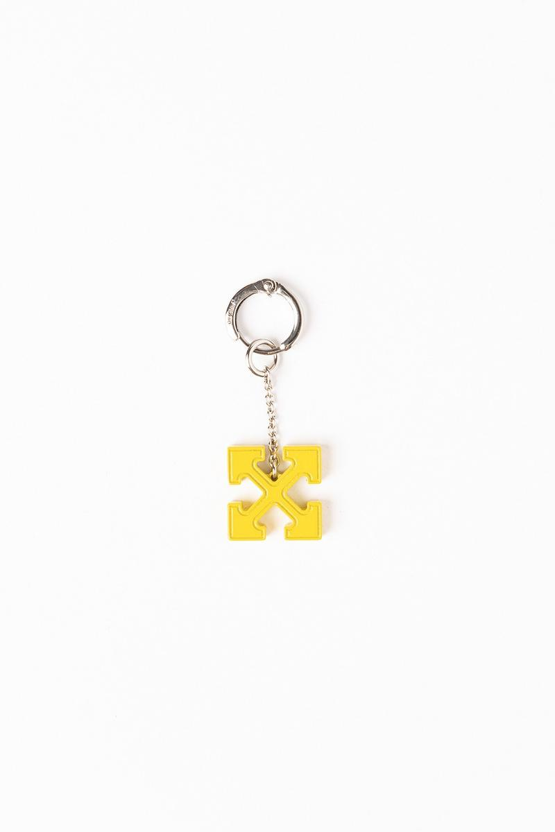Off White Jewelry Collection Arrows Keychain Silver Yellow