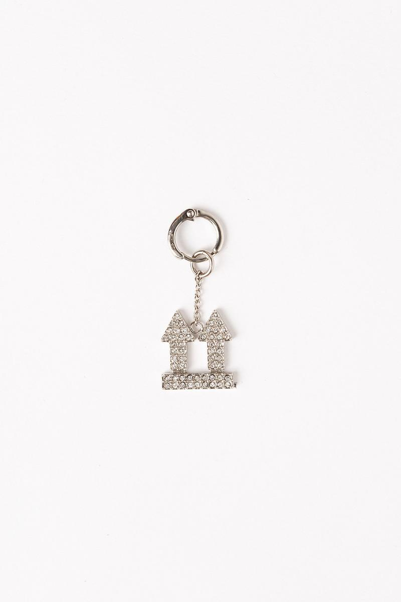Off White Jewelry Collection Arrows Keychain Silver