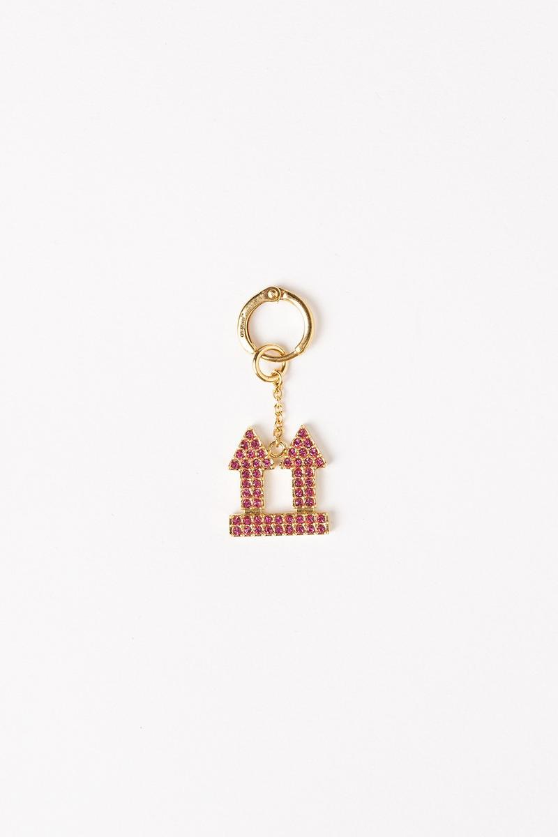Off White Jewelry Collection Arrows Keychain Pink Gold