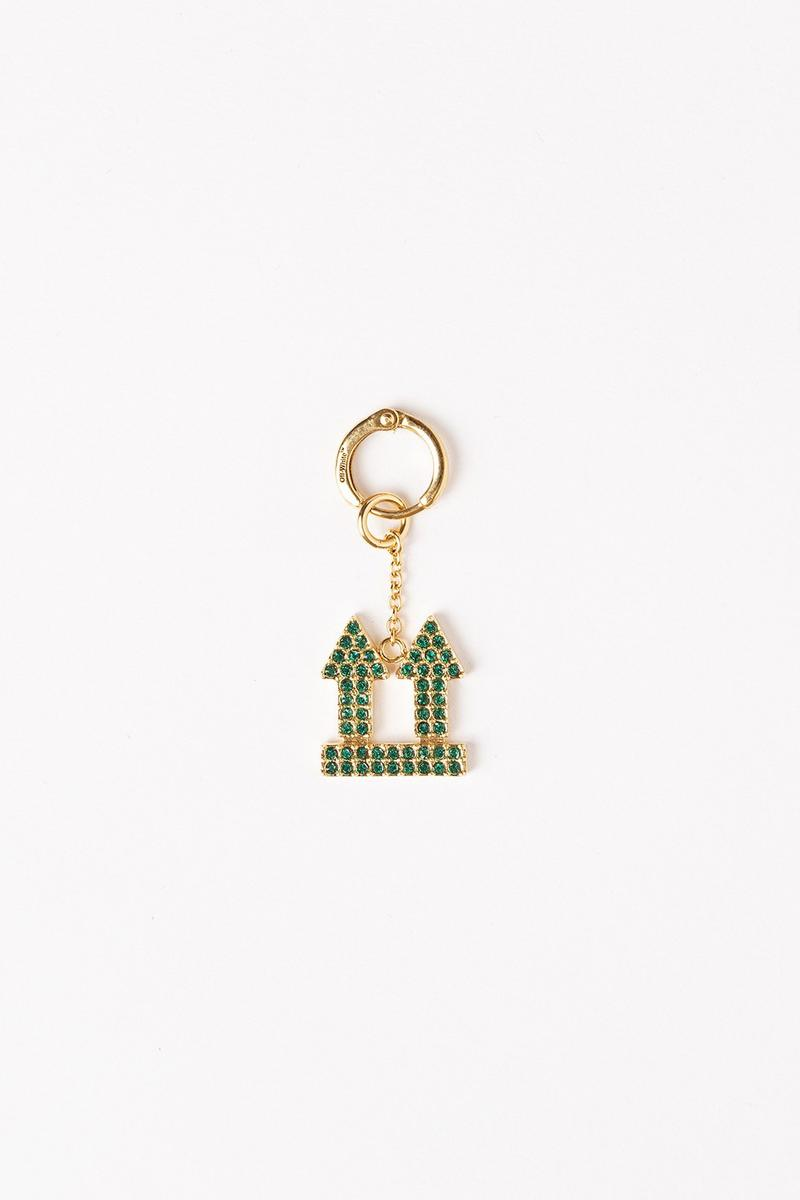 Off White Jewelry Collection Arrows Keychain Green Gold