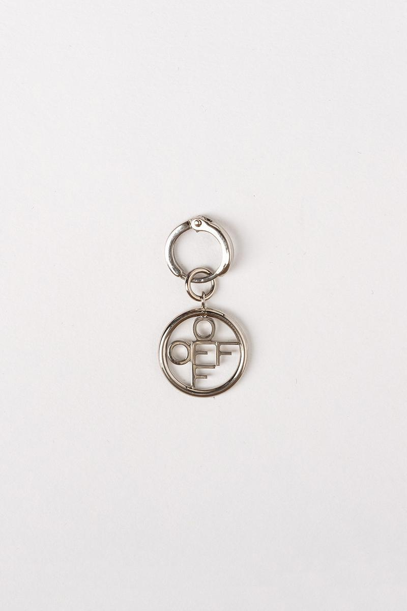 Off White Jewelry Collection Logo Keychain Silver