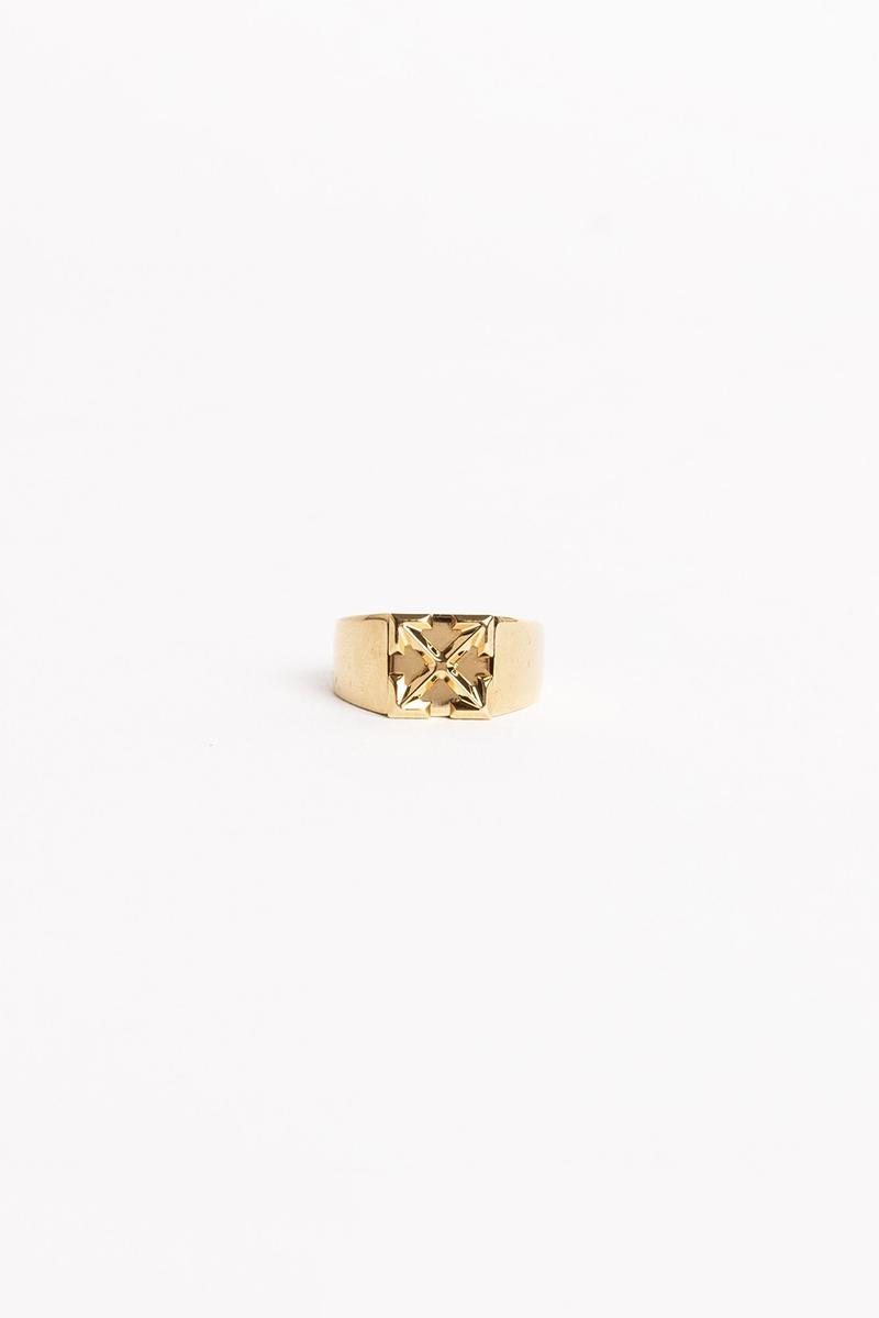 Off White Jewelry Collection Arrows Ring Gold