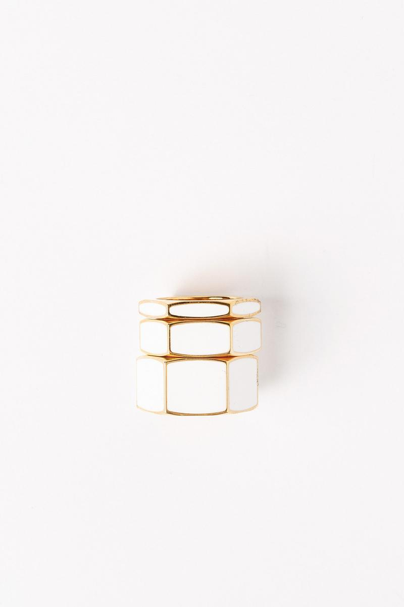 Off White Jewelry Collection Rings Gold White