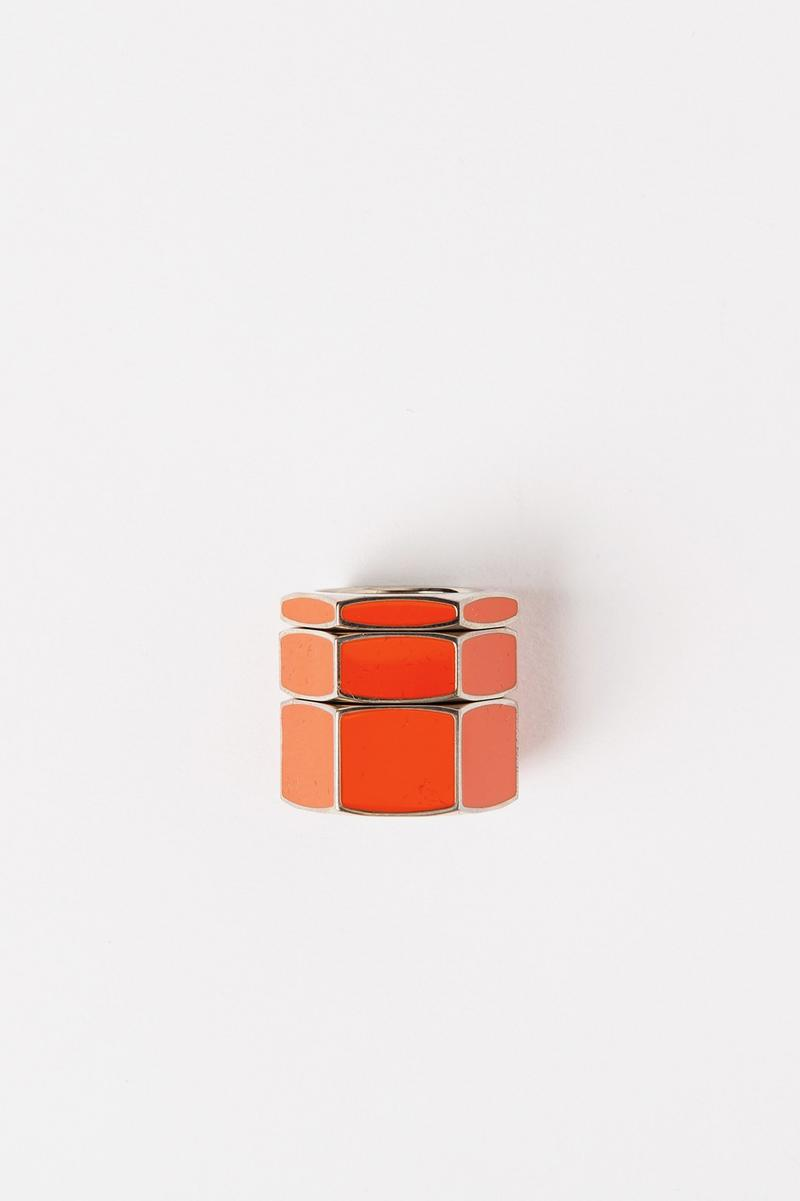 Off White Jewelry Collection Rings Gold Orange
