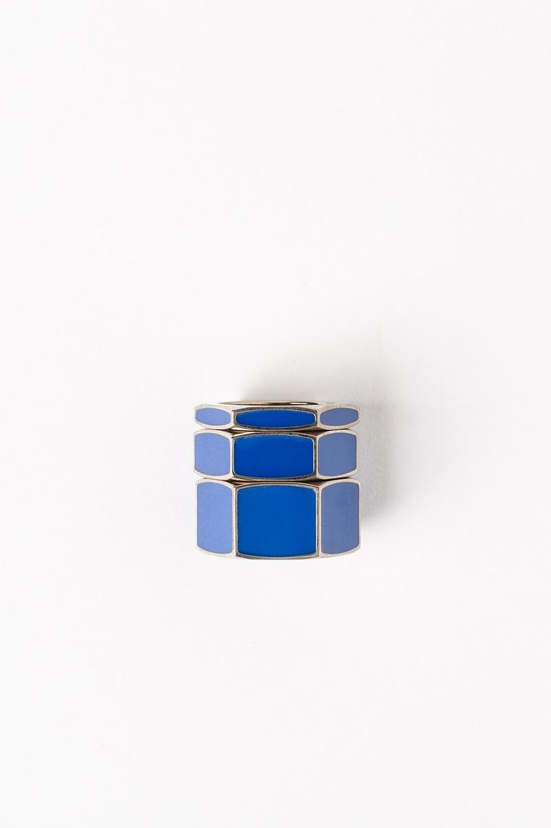 Off White Jewelry Collection Rings Silver Blue