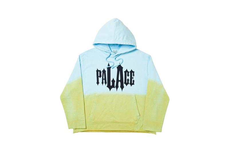 Palace Los Angeles LA Capsule Collection Hoodie Blue Green