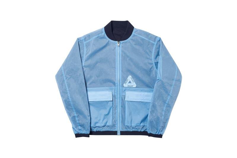 Palace Spring 2019 Reversible Overlay Bomber Jacket Blue