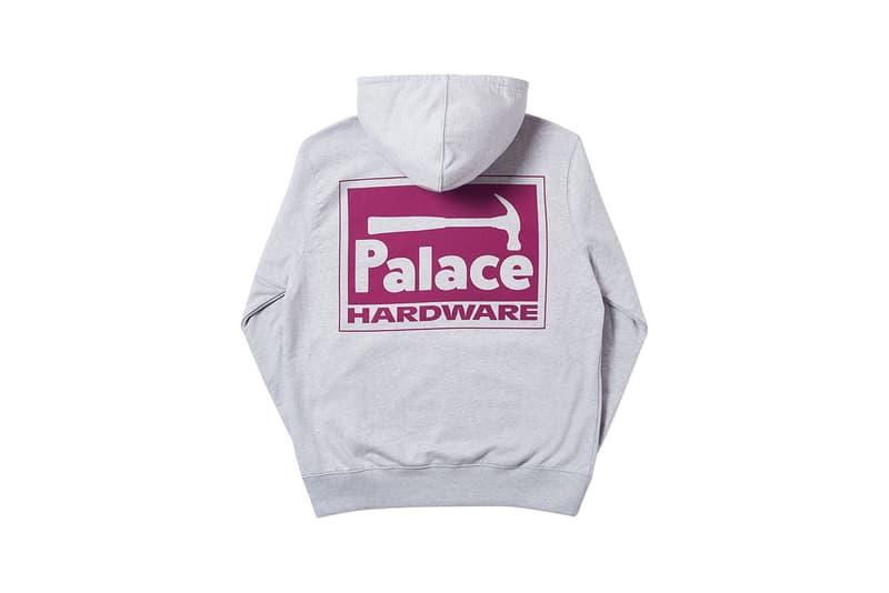 Palace Spring 2019 Hoodie Grey