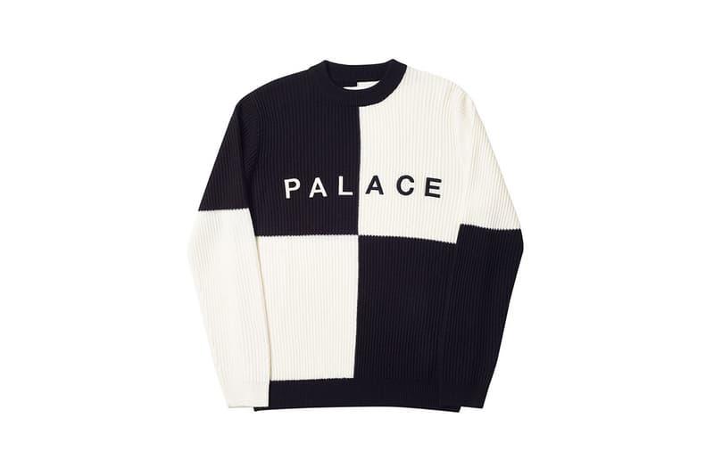 Palace Spring 2019 Sweater Black White