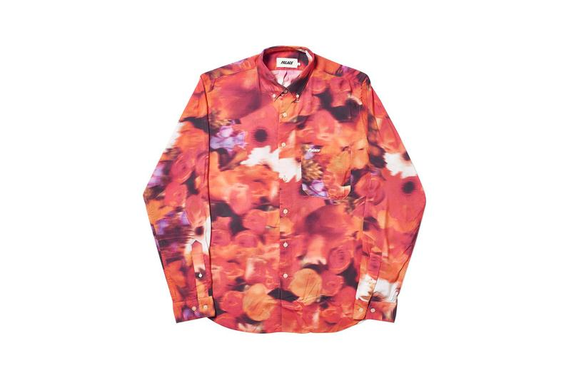 Palace Spring 2019 Floral Shirt Orange Red Black