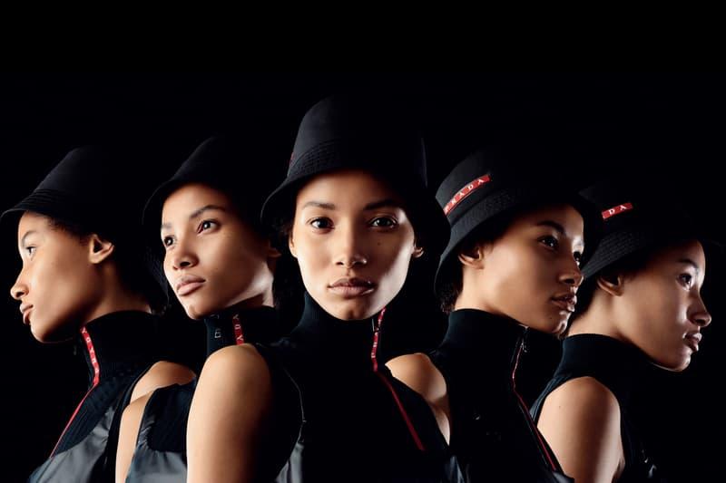 Prada Linea Rossa Spring/Summer 2019 Campaign Release Lookbook Prada Logo Hat Collection