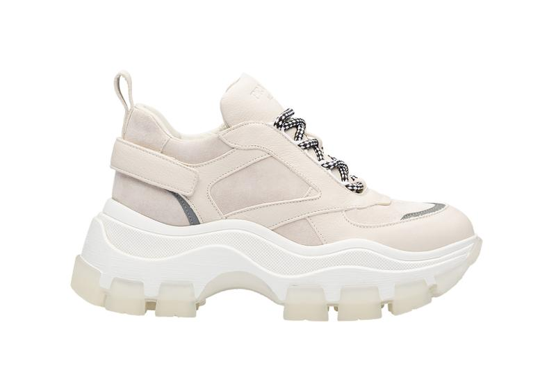Prada Platform Sneaker Cream White