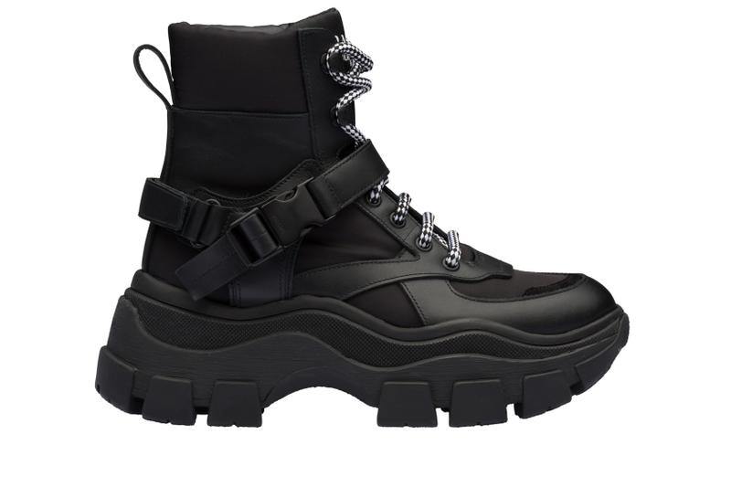 Prada Platform High Top Sneaker Black