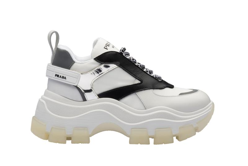 Prada Platform Sneaker White Black