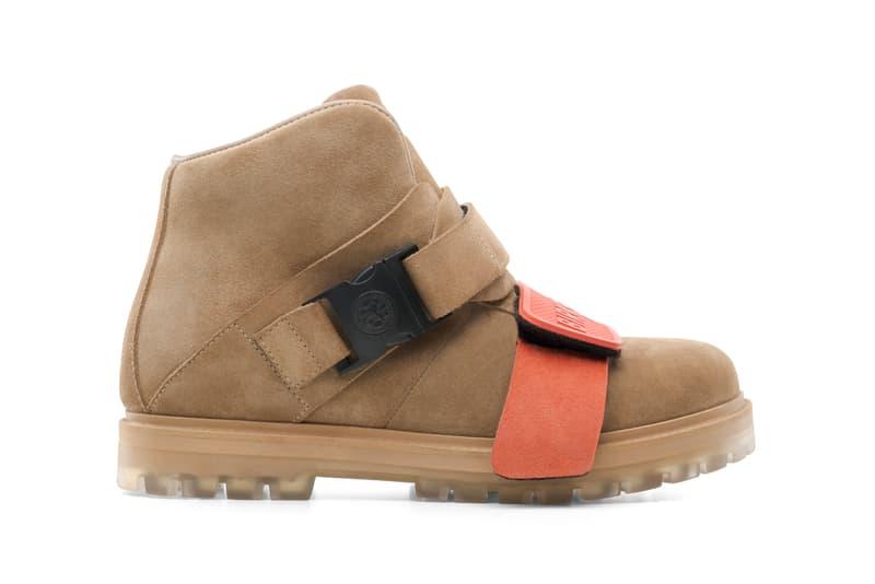 Rick Owens Rotterhiker Boots Beige Orange