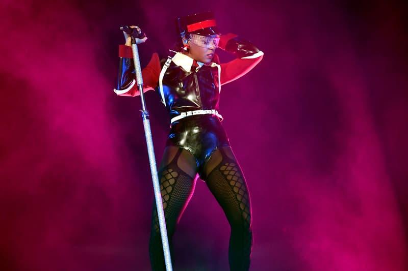 Janelle Monae Coachella Weekend 1 Ruslan Baginskiy Hat Black Red