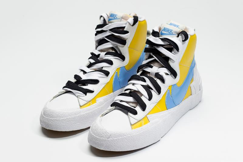 sacai Nike Blazer Yellow Baby Blue Release Info First Look