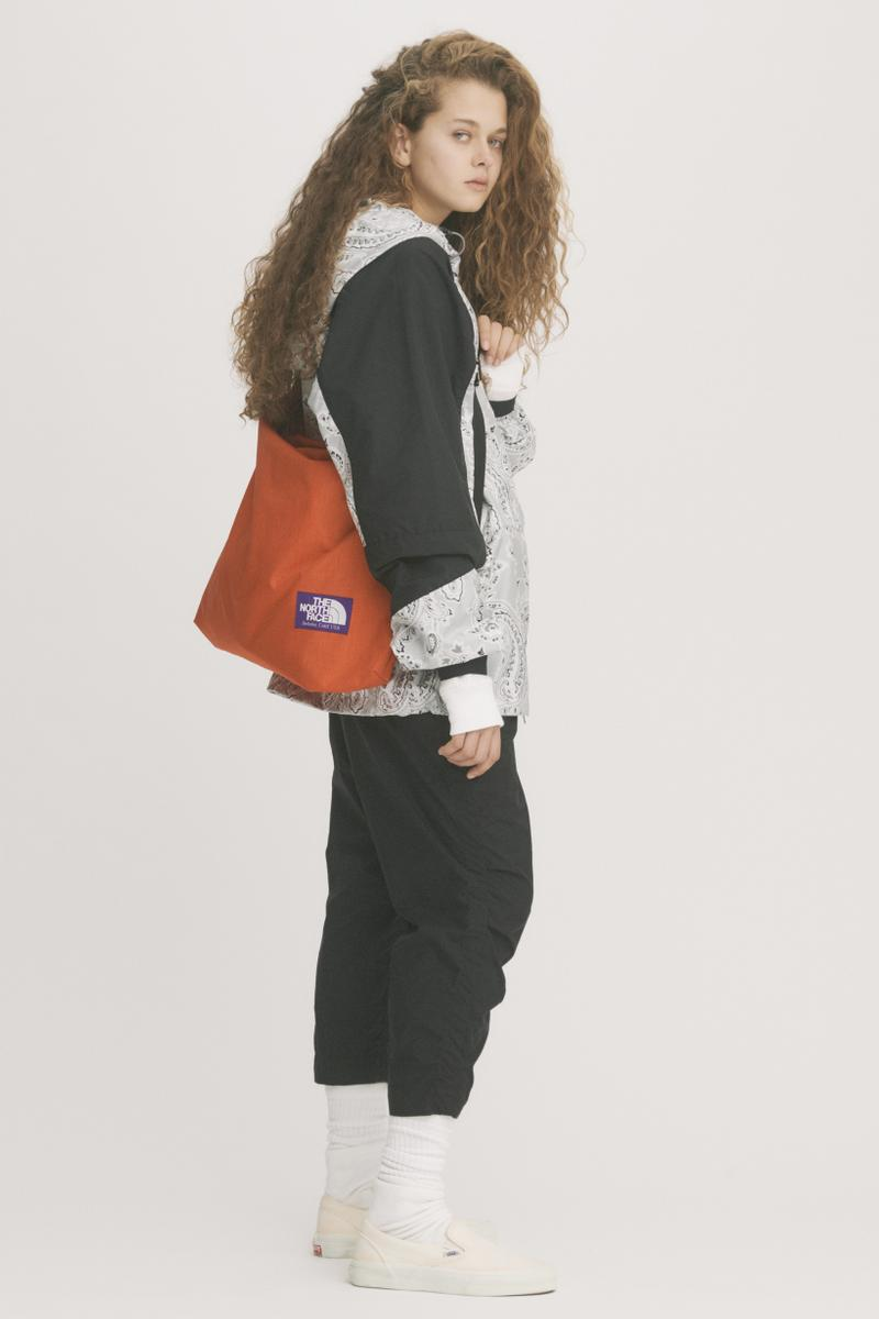 THE NORTH FACE PURPLE LABEL Spring Summer 2019 Lookbook Jacket Grey Pants Black Bag Red