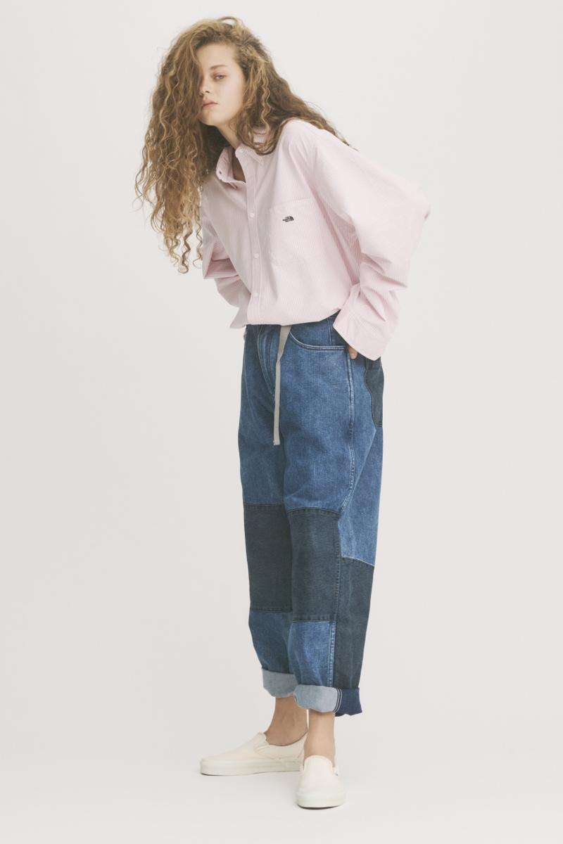 THE NORTH FACE PURPLE LABEL Spring Summer 2019 Lookbook Shirt Pink Pants Blue