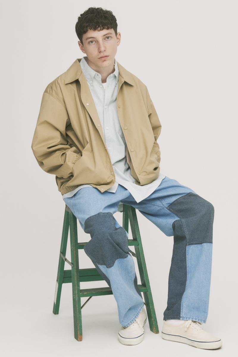 THE NORTH FACE PURPLE LABEL Spring Summer 2019 Lookbook Jacket Tan Pants Blue Shirt Grey